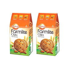 Sunfeast Farmlite Oats with Almonds Cookie - Pack of 2